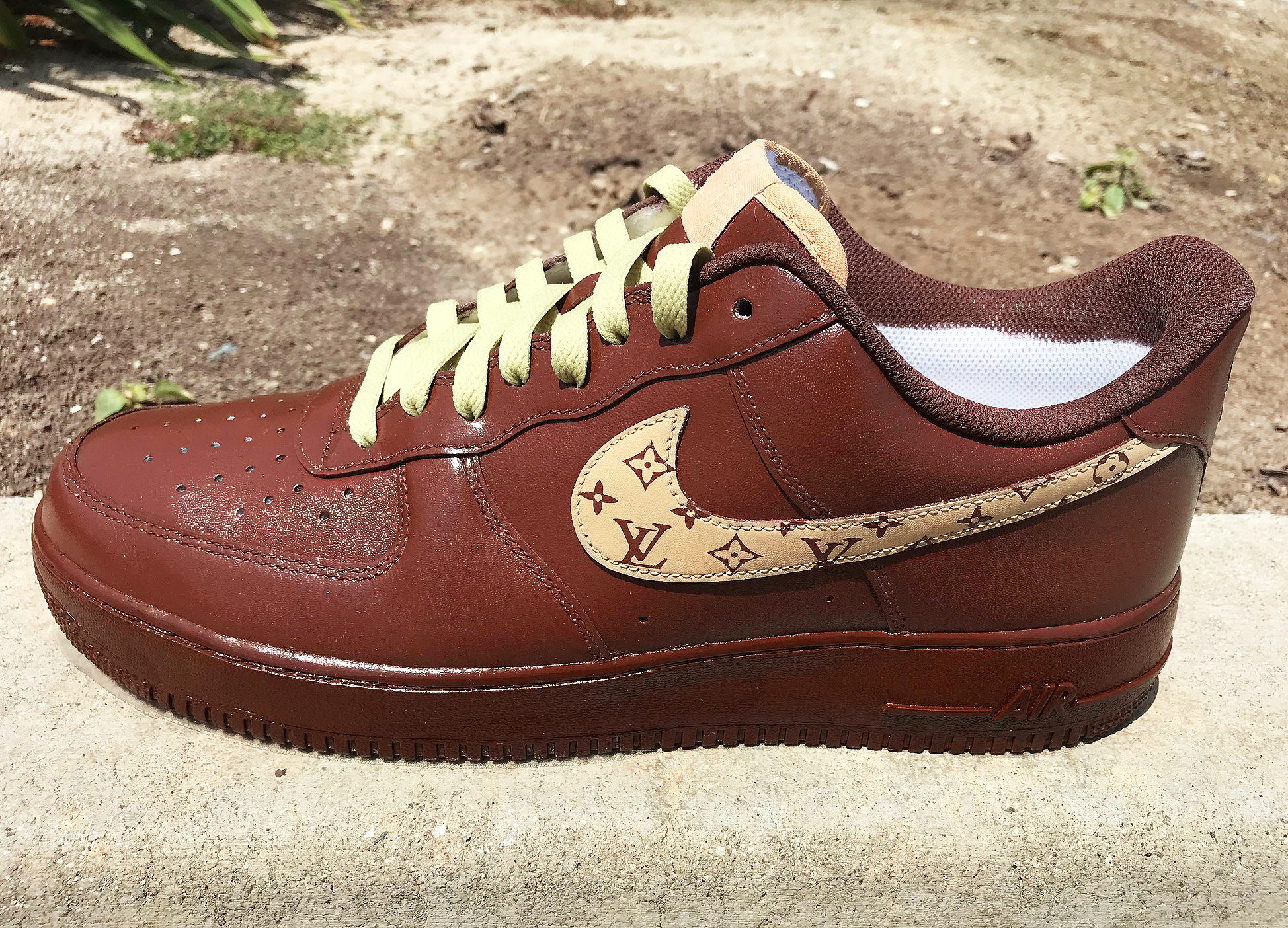 Brown LV Swoosh