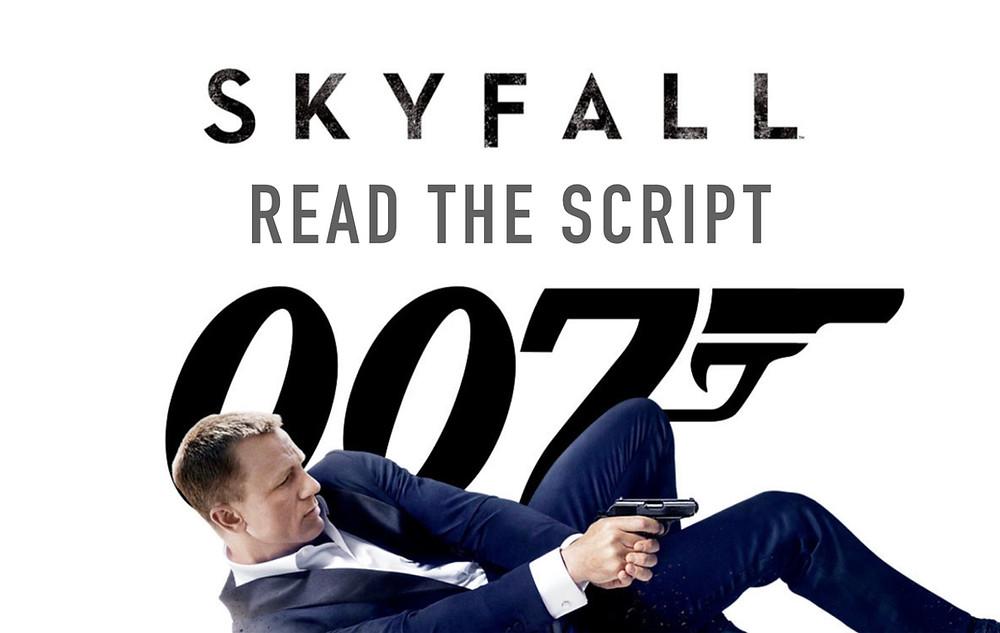 Script, Skyfall, Daniel Craig, James Bond. MI6, Scripts To Read, The Script Department