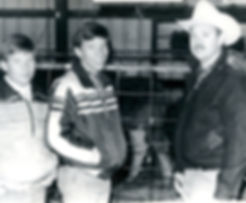 Derek Martin, Eric Martin, Larry Martin. Derek, Eric and Larry attended their first Gelbvieh sale in 1983 on Thanksgiving weekend in Salina, Kansas. At the Broken Bar W sale, they bought three pairs and half-blood cow from Jim and Loretta Wilson. Eric and