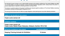 Licence for Activities involving Animals