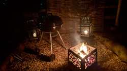 All spaces have their own firepit and bb
