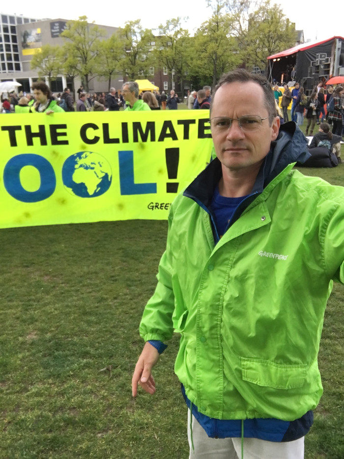 At the 2017 People's Climate March in Amsterdam