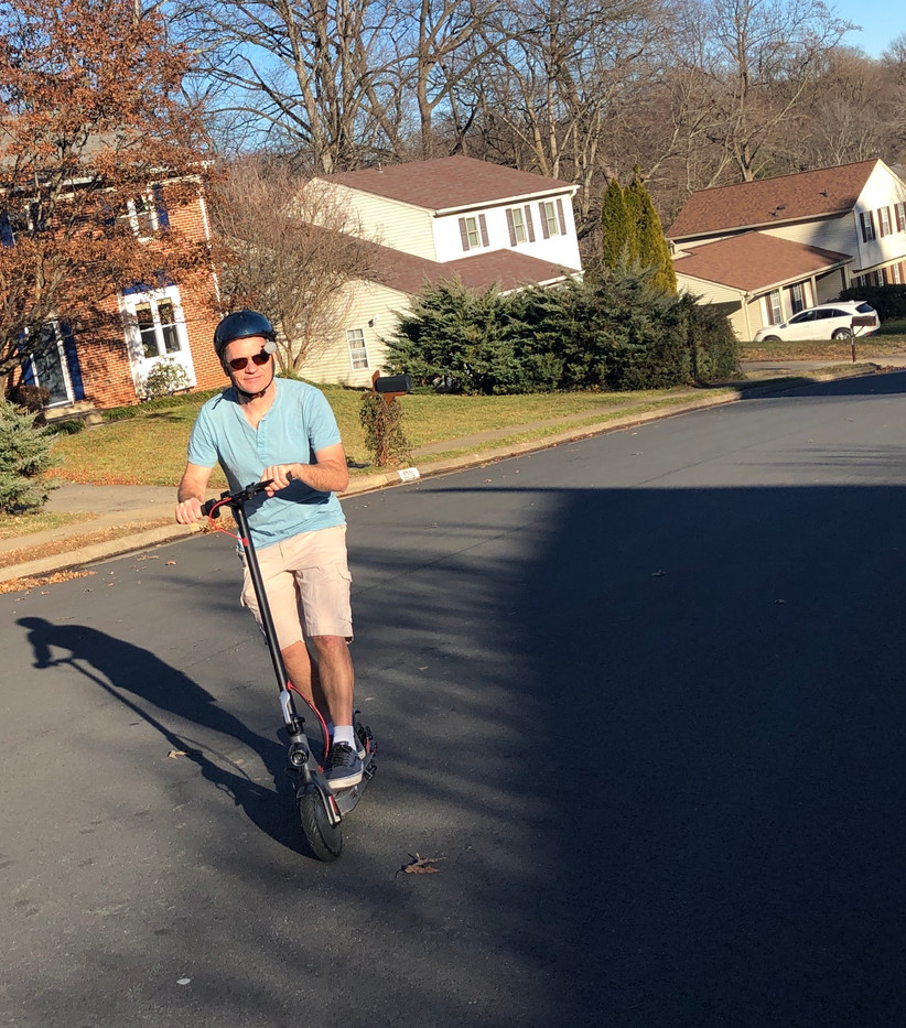 Hutch on Electric Scooter