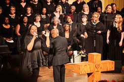 Effie Johnson Leading the Jubilee Choir under the direction of Billy Rivers