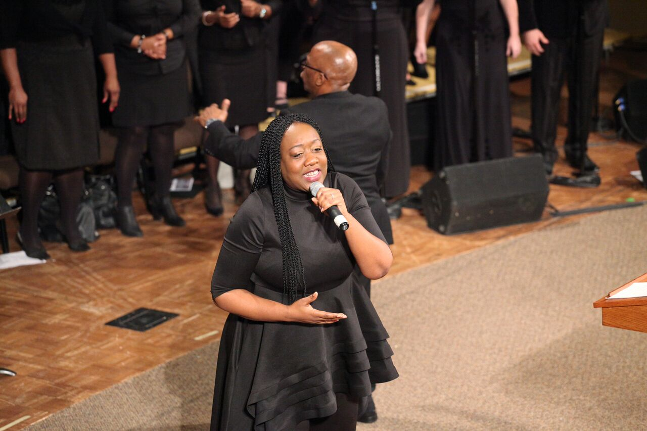 Effie Johson Leading the Jubilee Choir
