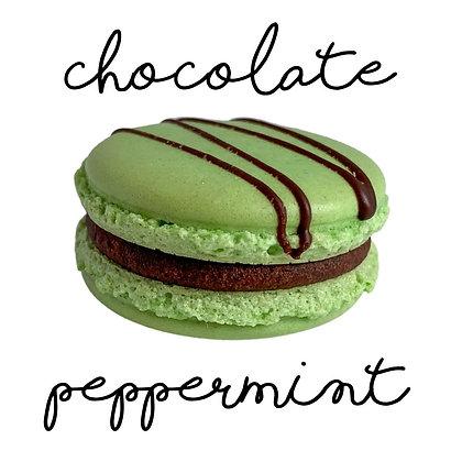 Chocolate Peppermint Macaron