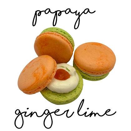 Papaya Ginger Lime Macaron