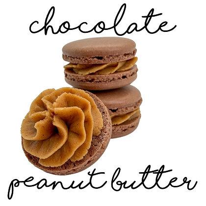 Chocolate Peanut Butter Macaron