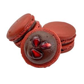 Dark Chocolate Pomegranate Macaron