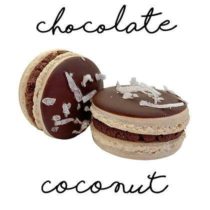 Chocolate Coconut Macaron