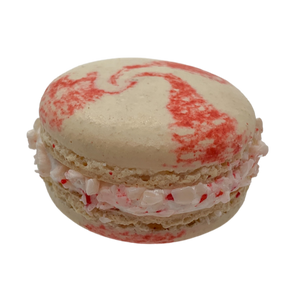 Candy Cane Macaron