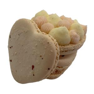 Vanilla Cardamom Rose Macaron