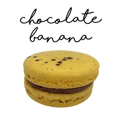 Chocolate Banana Macaron