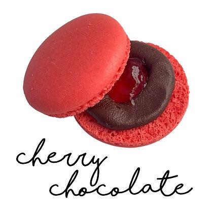 Cherry Chocolate Macaron