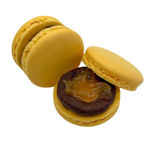 Yuzu Dark Chocolate Macaron