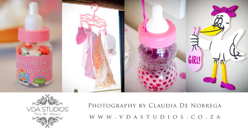 polka dot and stripe baby shower