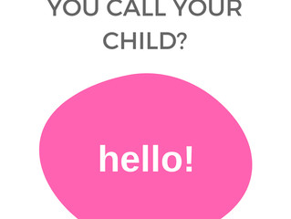 What nickname do you call your child?