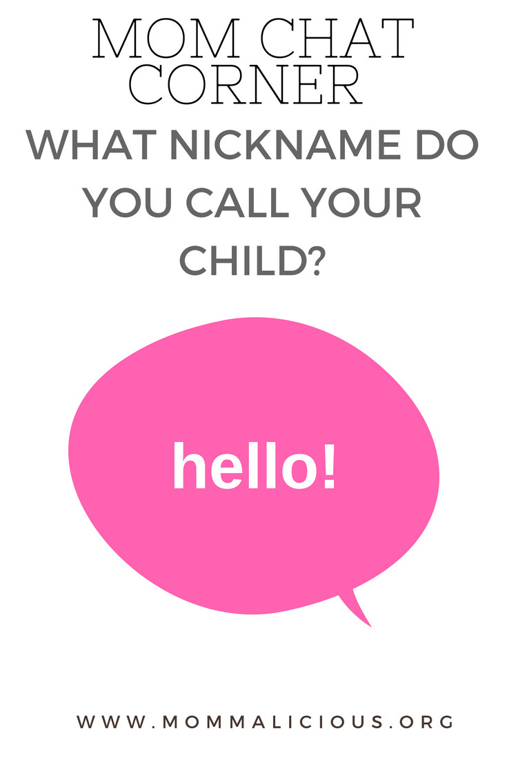 What nickname do you call your child