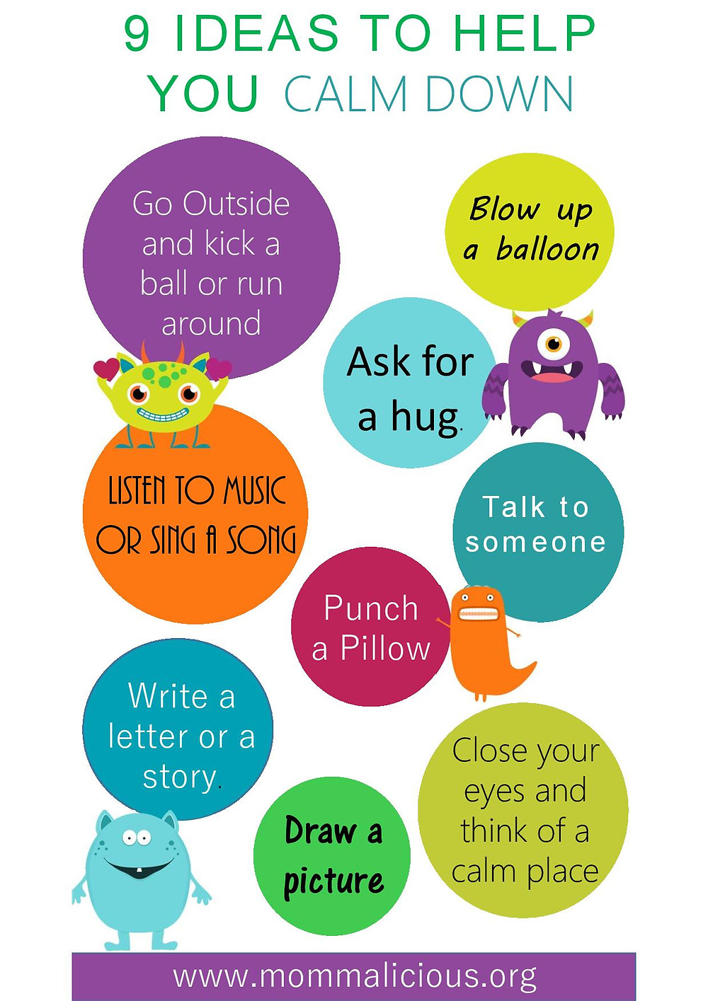 Ways to help your child calm down