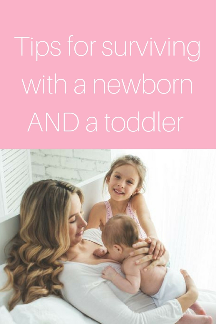 Tips for surviving with a newborn and toddler