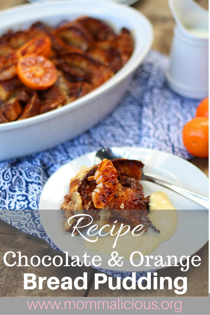 chocolate and orange bread pudding