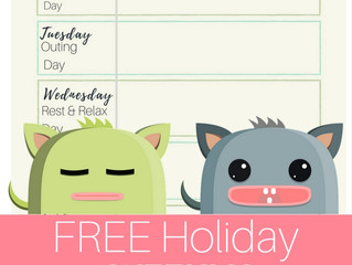 FREE Holiday Weekly Planner