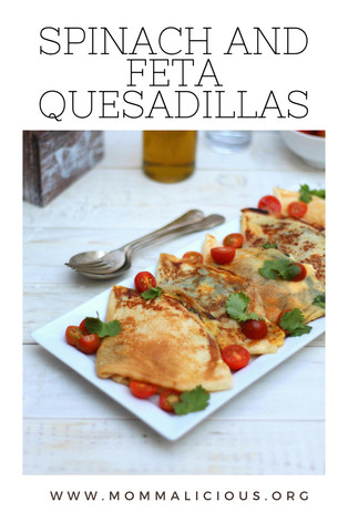 Spinach & Feta Quesadillas