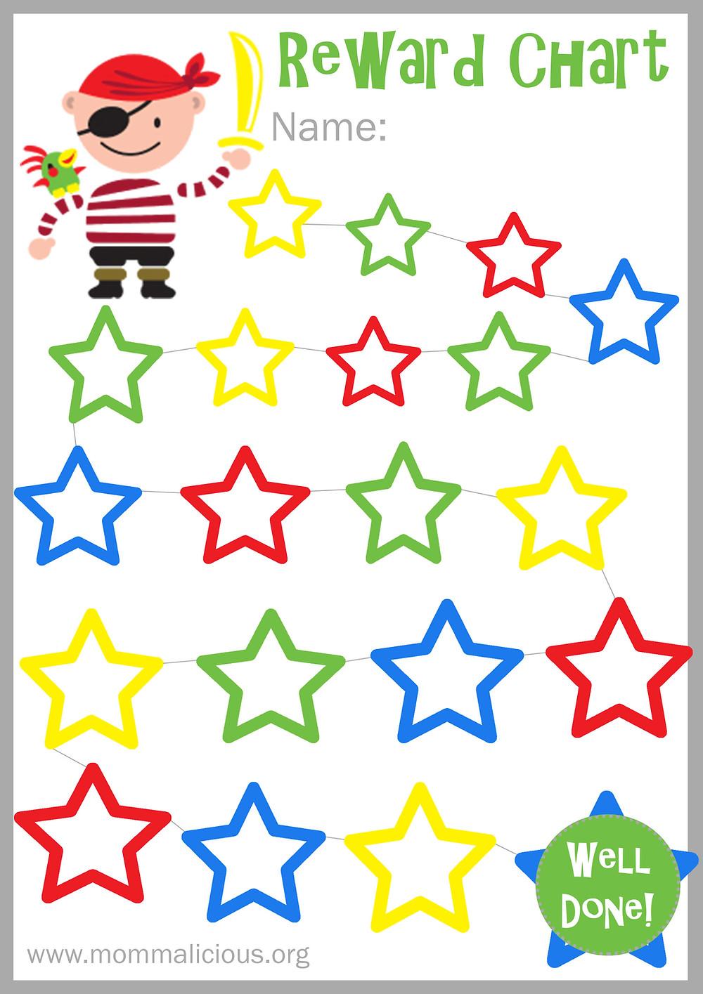 Reward Chart for boys