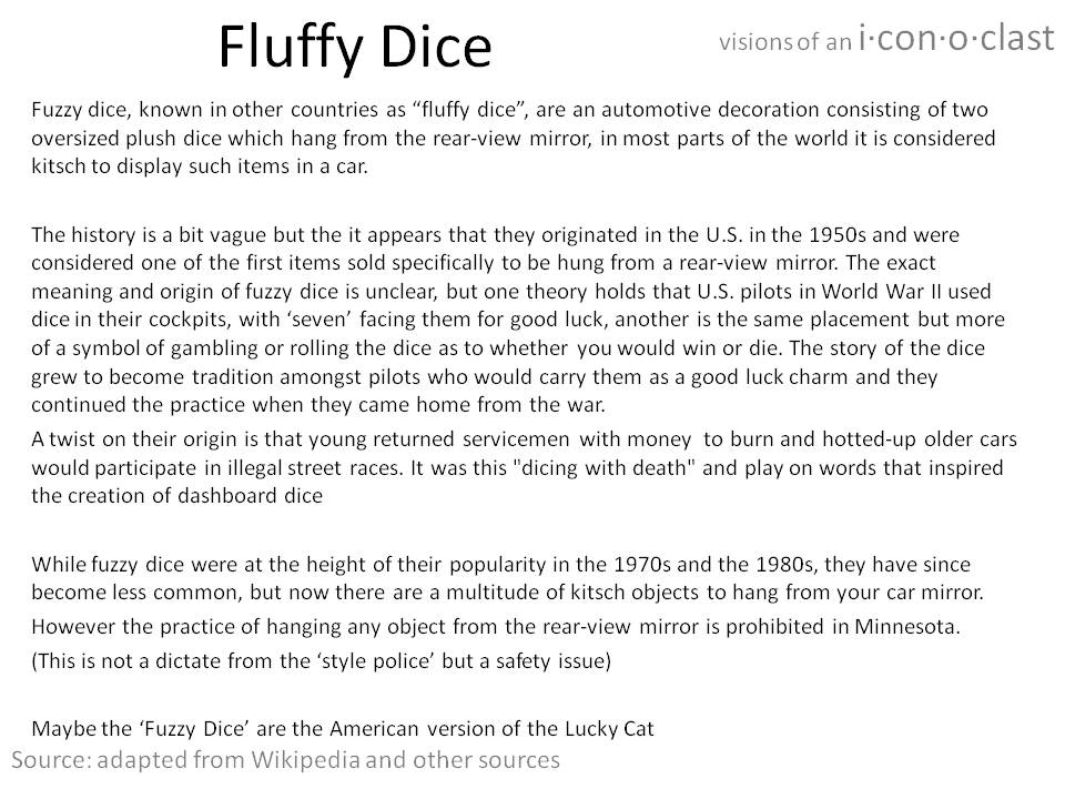 About Fluffy (Fuzzy) Dice