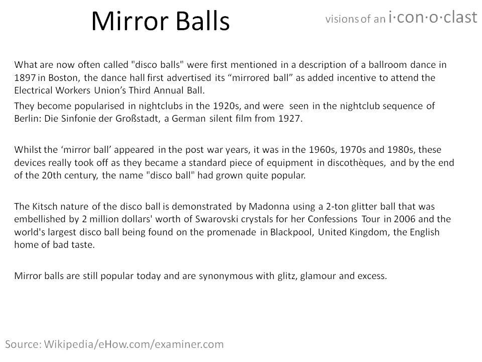 About Mirror Balls