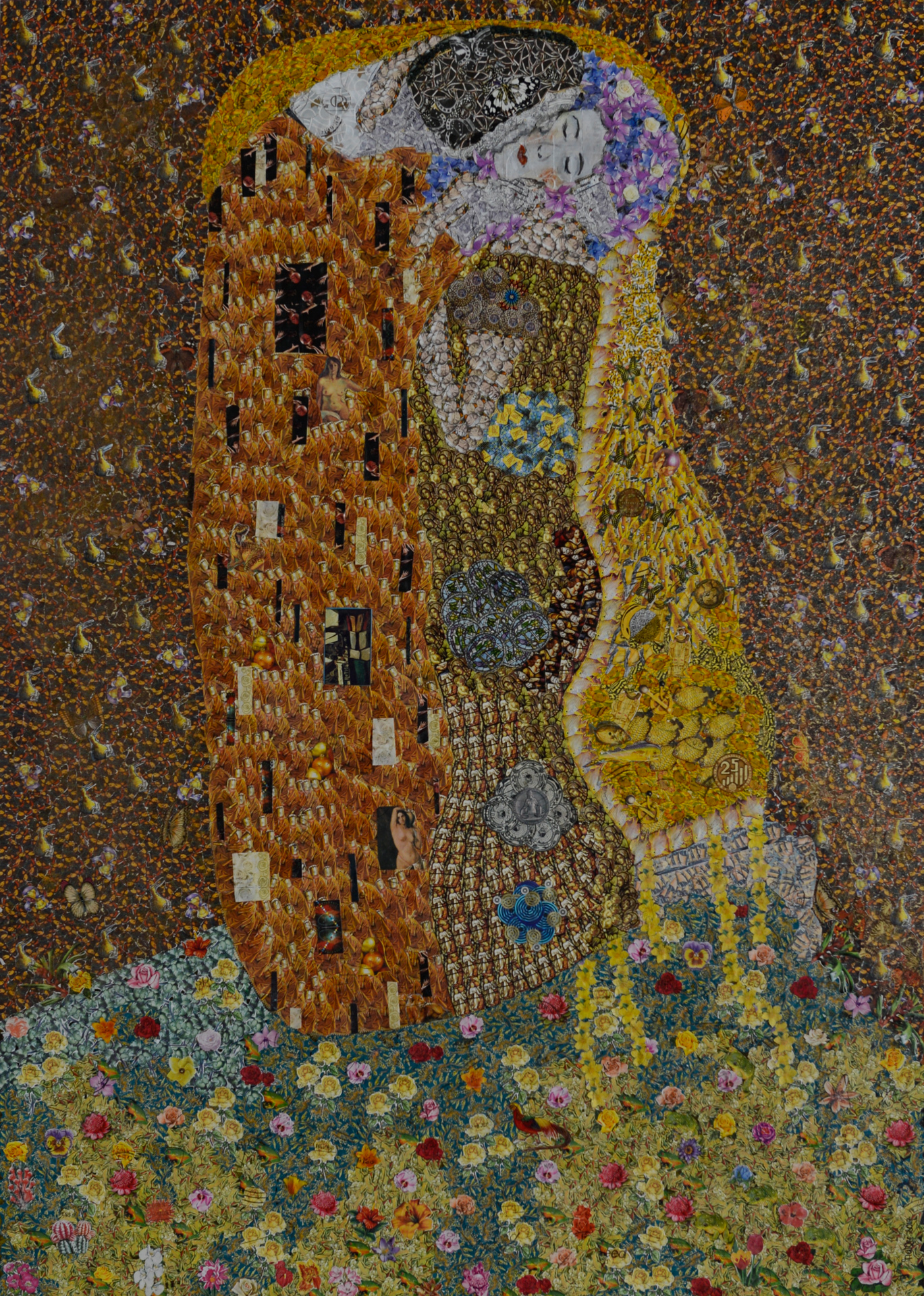 The Kiss (after Klimt)