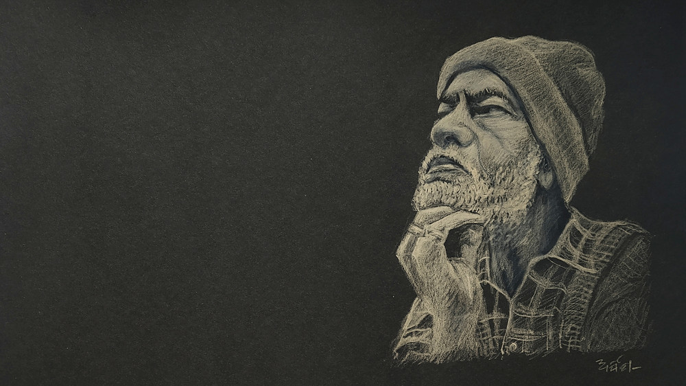 A sketch of Sanjay Mishra in Ankhon Dekhi by Arpita