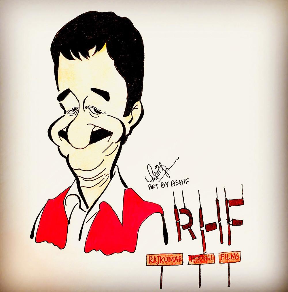 Raju Hirani FIlms doodle by  Ashif Mohammed