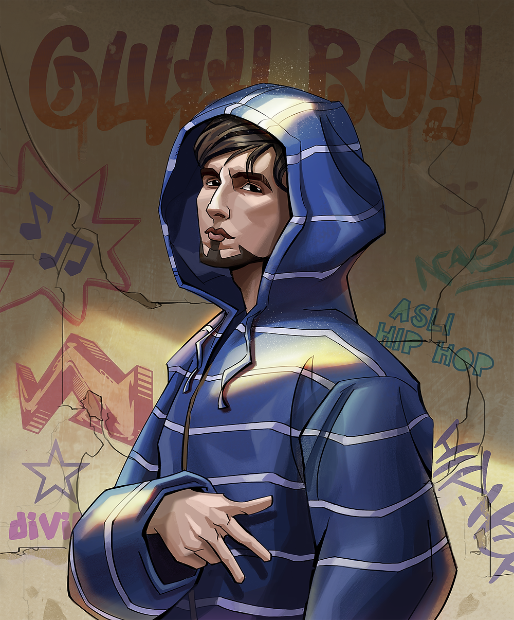 A fanart of Ranveer Singh from Gully Boy by Shehzad Kapadia