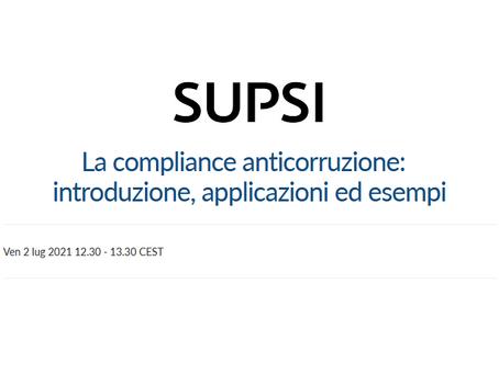 """Webinar """"La compliance anticorruzione: introduzione, applicazioni ed esempi"""""""