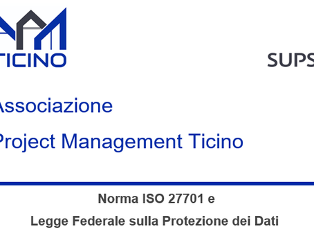 """Webinar """"La Norma ISO 27701 e Legge Federale sulla Protezione dei Dati """""""