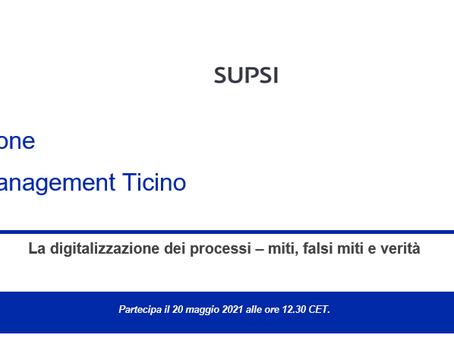 """Sono disponibili le slide del webinar """"La digitalizzazione dei processi – miti, falsi miti e verità"""""""