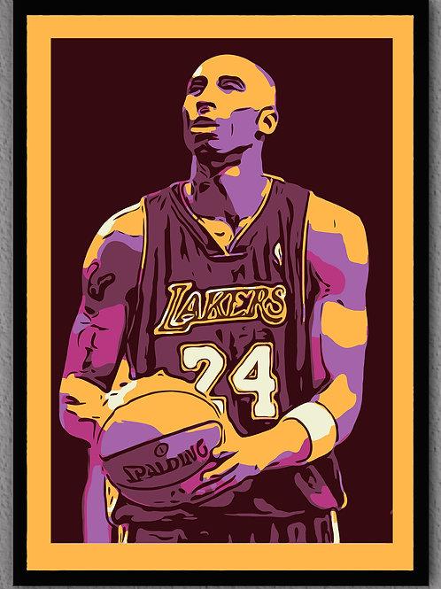 """Framed- """"Kobe"""" Gold Matte"""