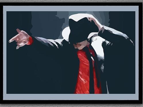 """Framed- """"King of Pop"""""""