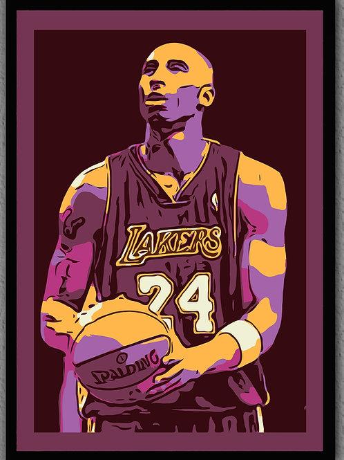 "Framed- ""Kobe"" Maroon matte"
