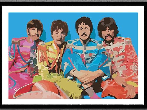 """Framed- """"Sgt. Peppers"""""""