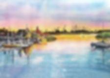 sunset-at-shoreline-village-debbie-lewis