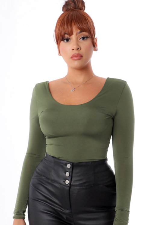 Olive BodySuit Top