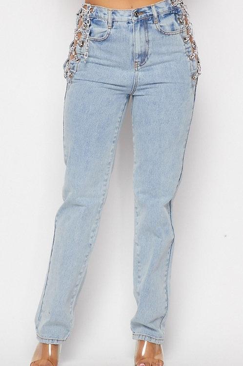 Zabella Blue Chain Jeans