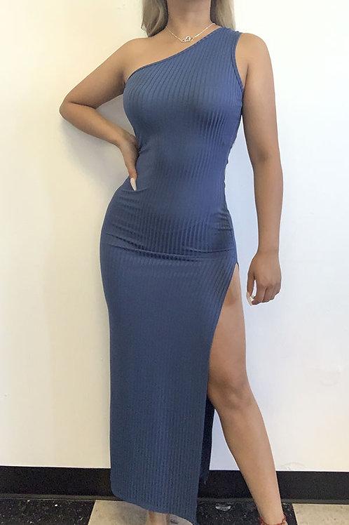 Elsy Blue Slit Maxi Dress