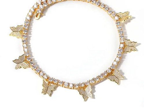 Butterfly Queen Choker in Gold