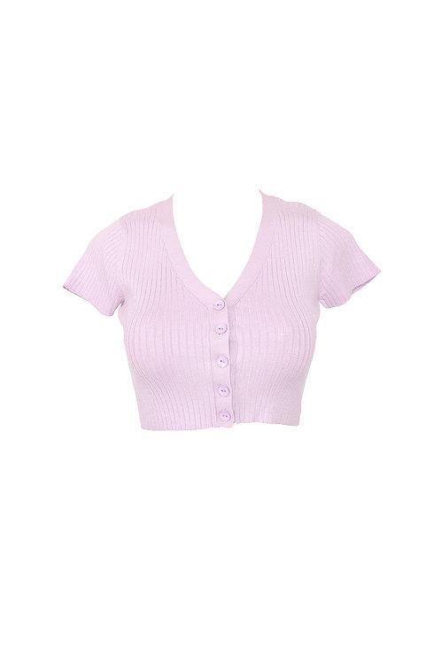 Lavender Knit Crop Top