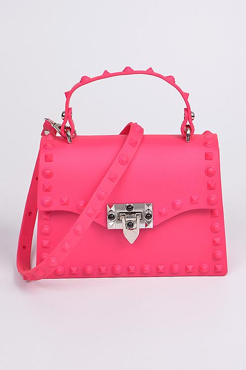 Royalty Pink Studded Bag