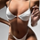 Thumbnail: White Chain Two-Piece Swimsuit