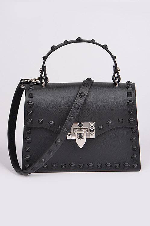 Royalty Black Studded Bag